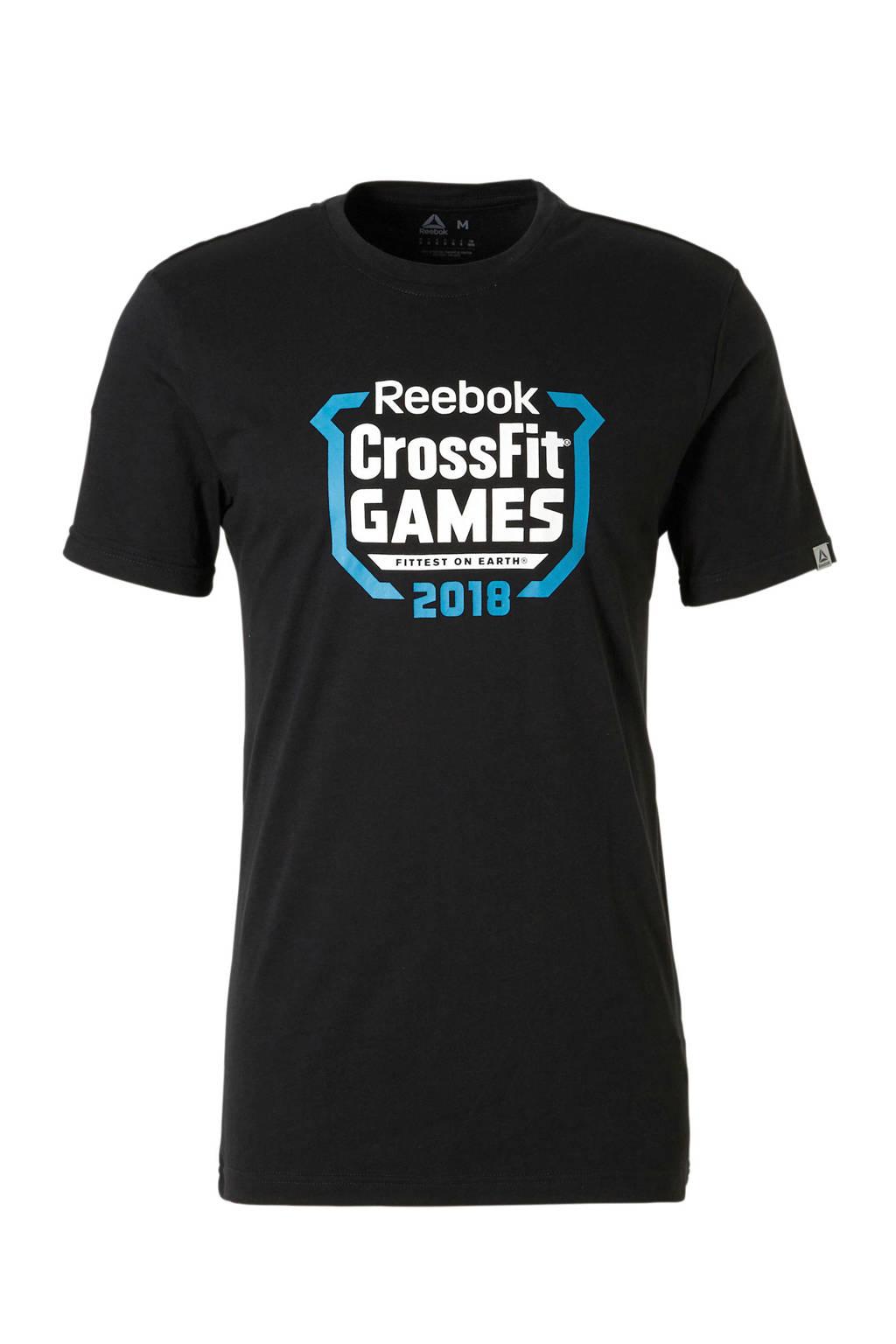 Reebok Fitness   sport T-shirt zwart, Zwart