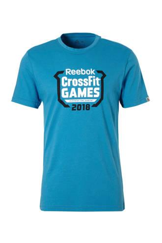 Fitness   sport T-shirt lichtblauw