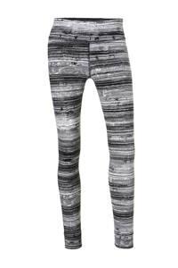 Reebok / gestreepte sportbroek zwart