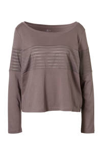 Reebok / T-shirt met mesh grijspaars