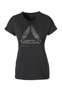 Reebok / T-shirt met print zwart