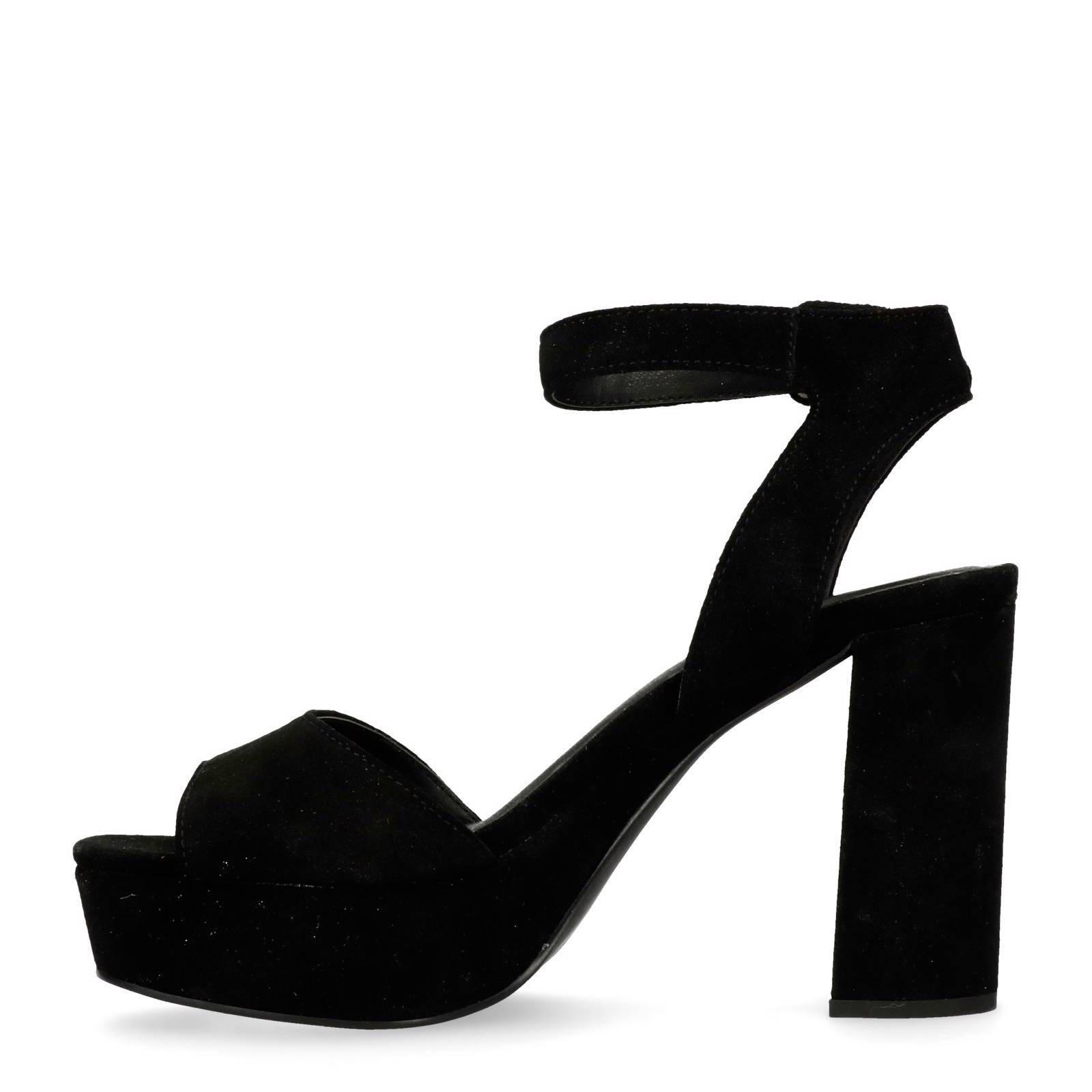 Sacha Chaussures Noires À Talon Bloc Avec Boucle Pour Dames Vr98Z2Ne