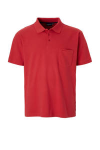 North 56°4 +size regular fit polo, Rood