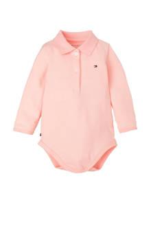 baby romper in blik roze