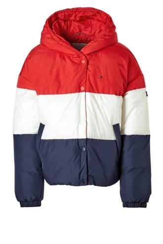 winterjas rood/wit/blauw