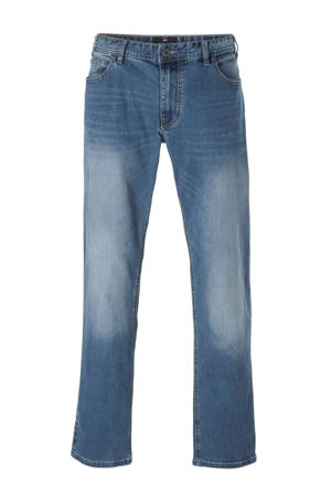 +size straight fit jeans Ringo 0597 blue used wash