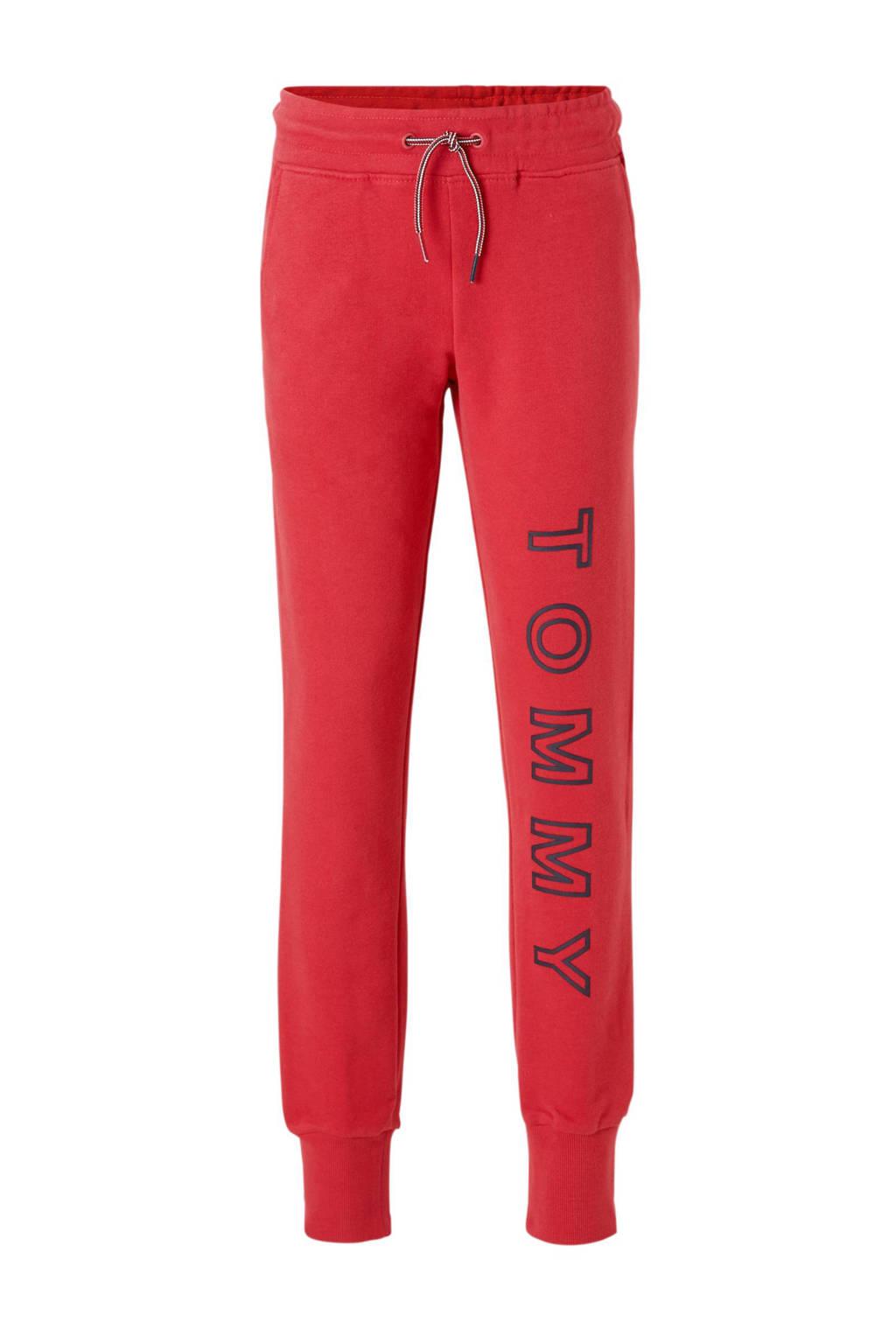 Tommy Hilfiger sweatpants met logo roze, Framboosroze