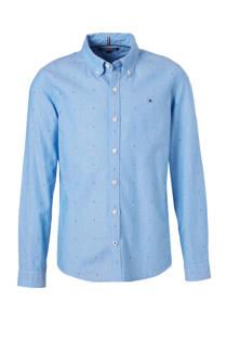 Tommy Hilfiger custom fit overhemd lichtblauw (jongens)