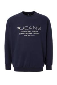 Replika +size sweater, Marineblauw