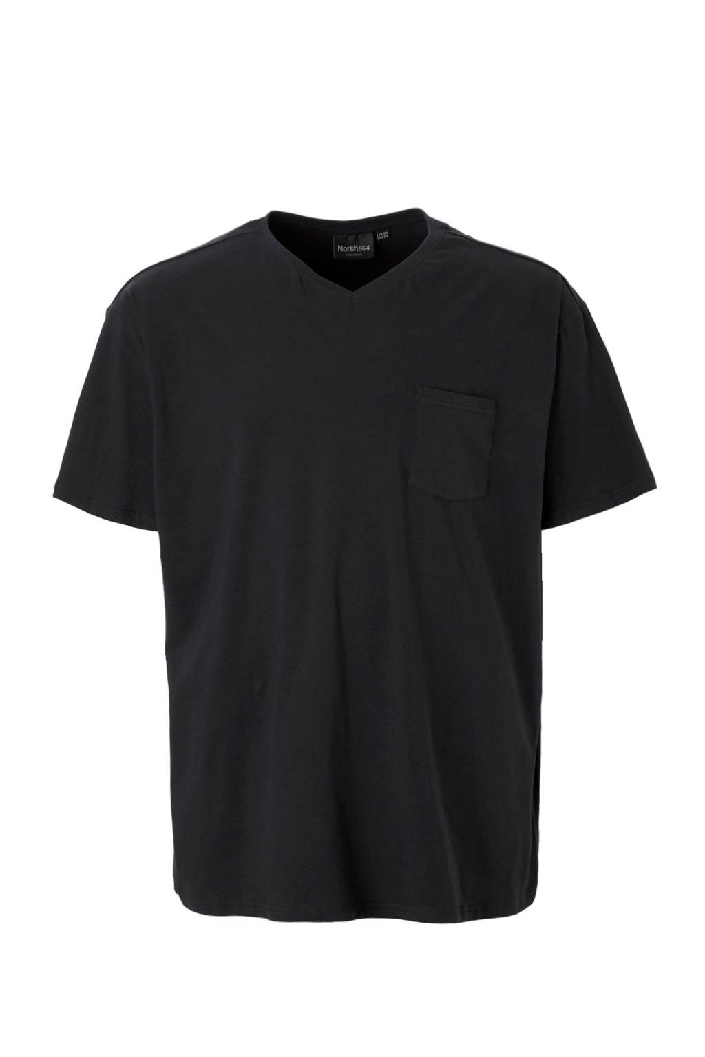 North 56°4 +size T-shirt zwart, Zwart