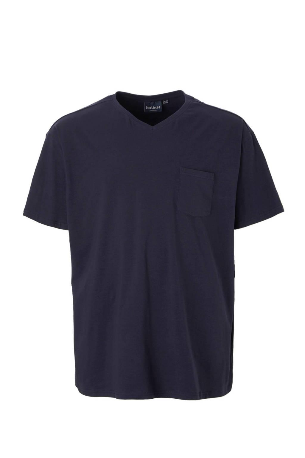 North 56°4 +size T-shirt, Marineblauw