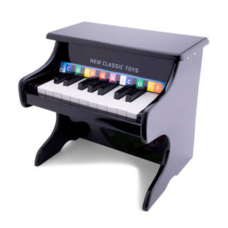 houten zwarte piano 18 toetsen zwart