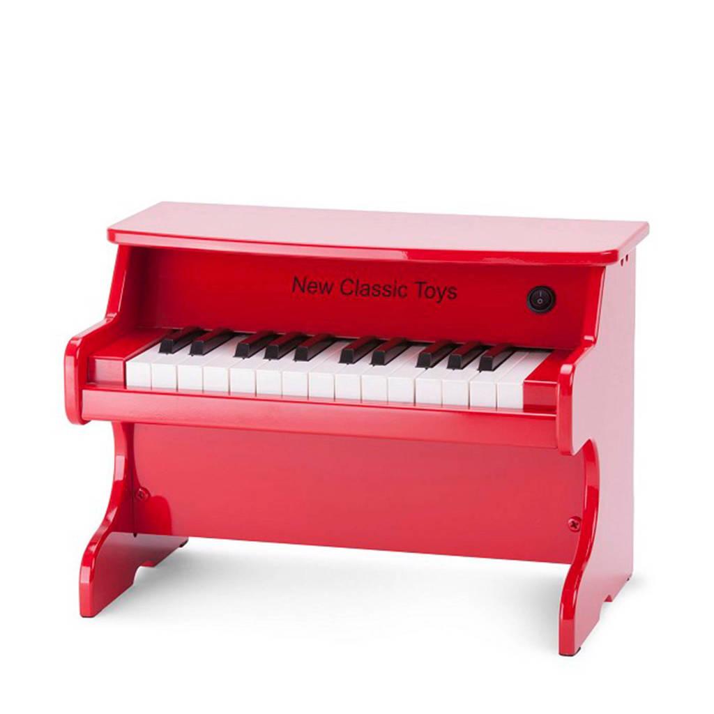 New Classic Toys houten elektronische piano 25 toetsen rood, Rood