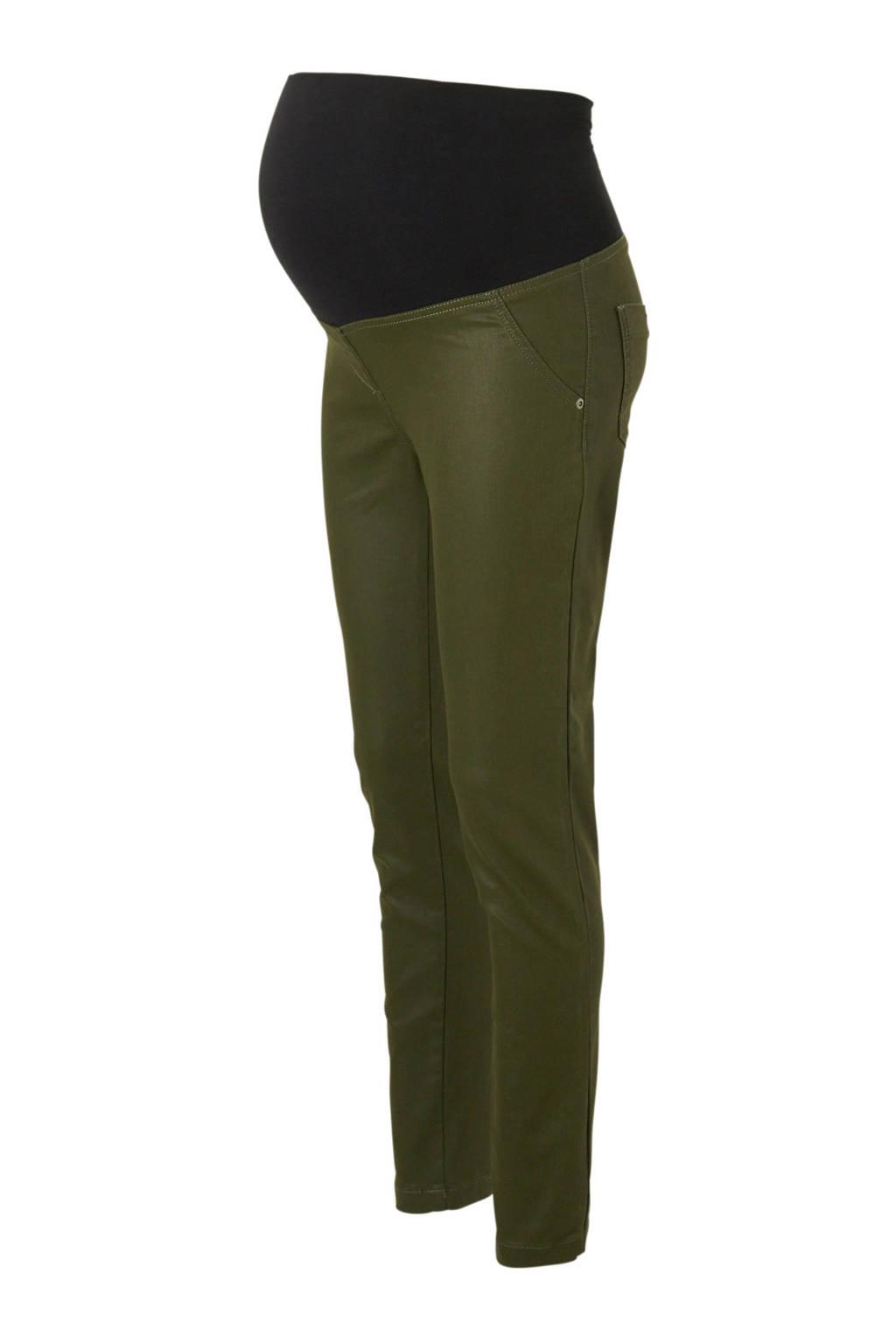 LOVE2WAIT jegging met elastische buikband, Groen/zwart