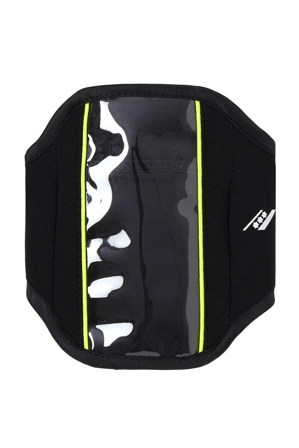 Rucanor   Samsung 6  &  Iphone 6 sportarmband, Zwart/ geel
