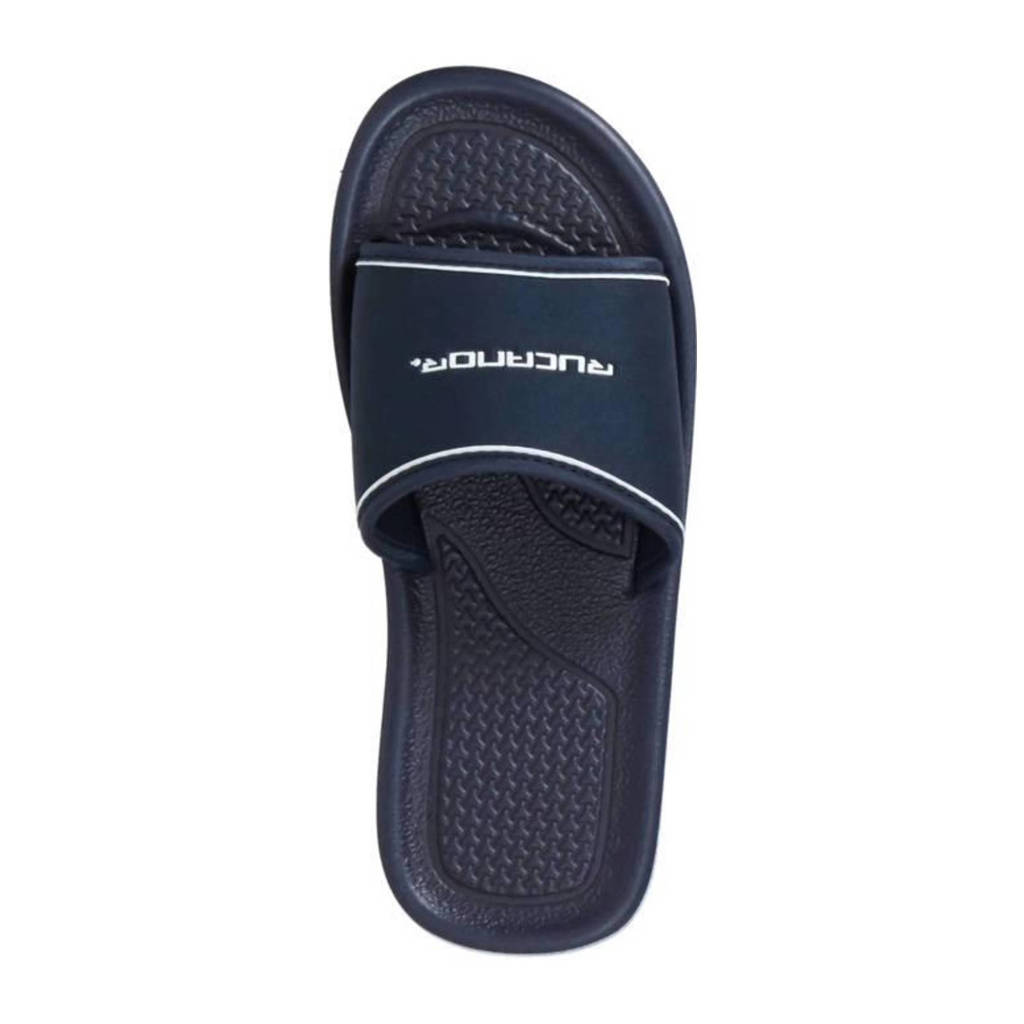 Rucanor   badslippers, Donkerblauw /wit
