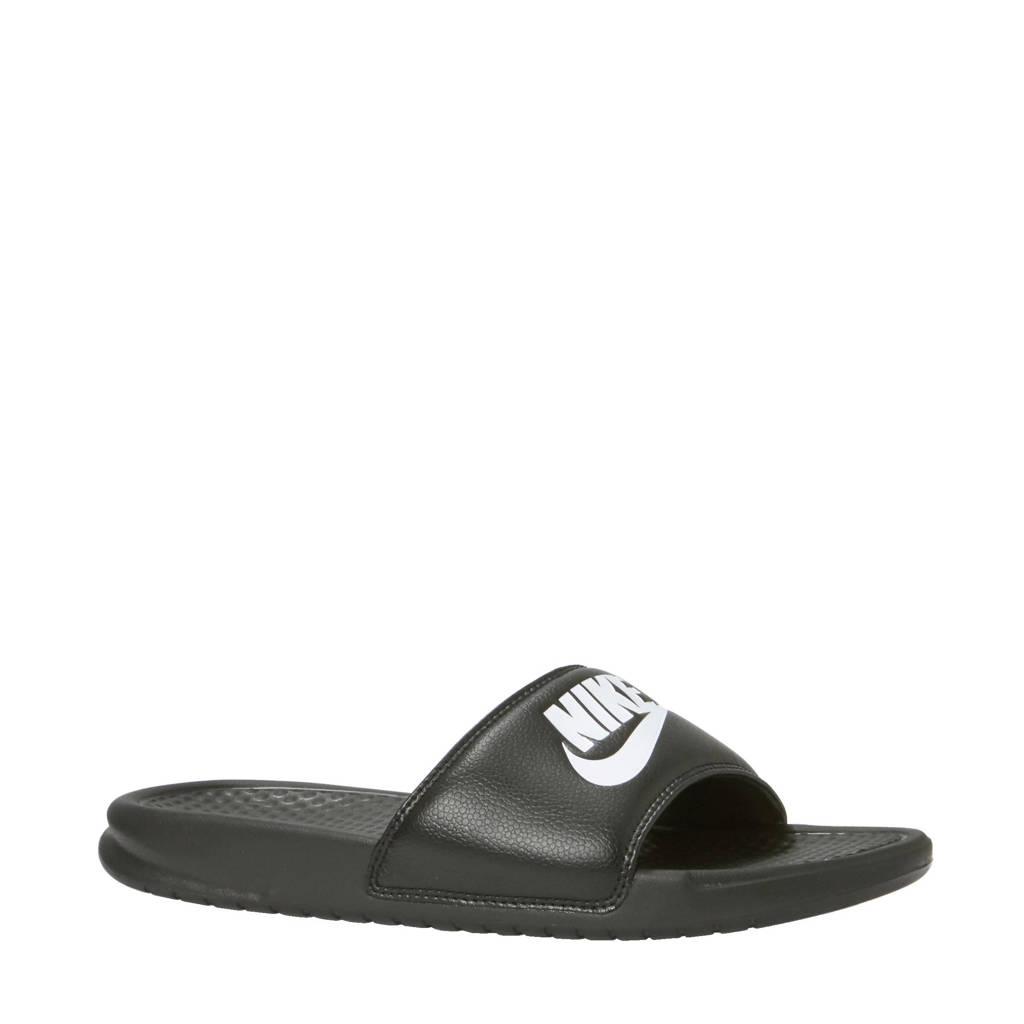 Nike BENASSI JDI  badslippers zwart, Zwart/wit