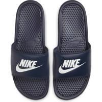 Nike BENASSI JDI   badslippers blauw, Marine/wit