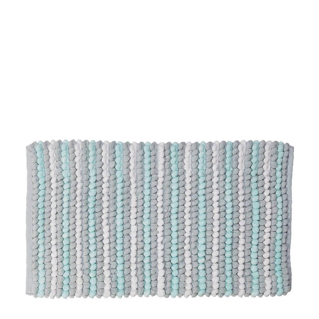 Sealskin Bright badmat 50x80cm, Turquoise/Grijs/Wit