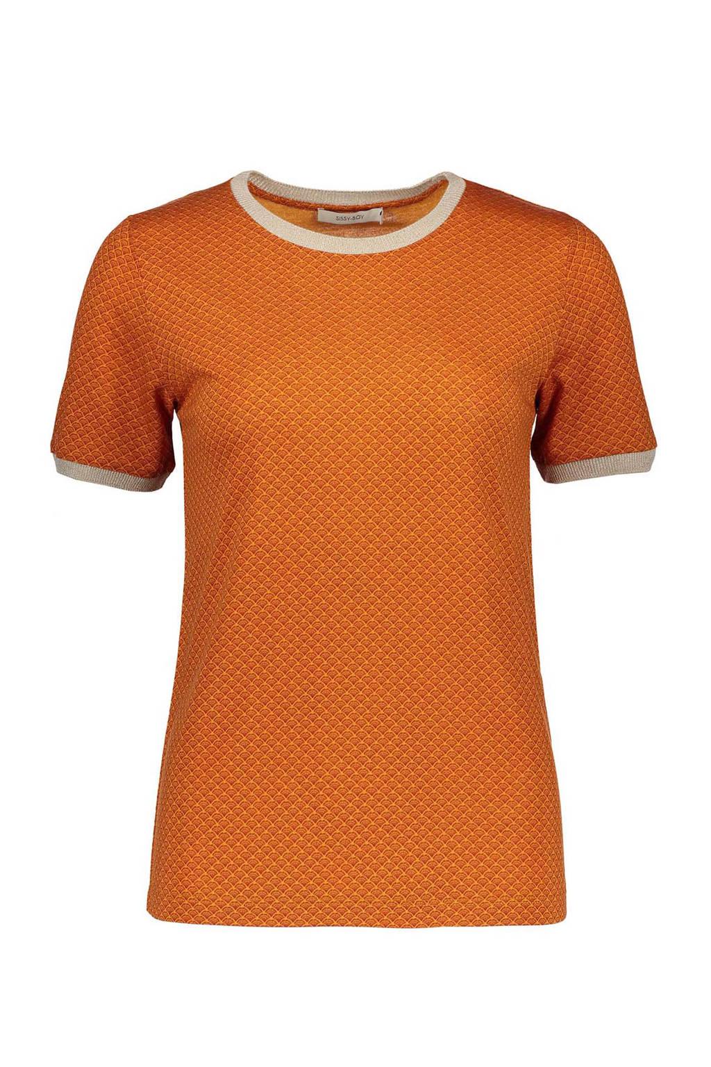 Sissy-Boy T-shirt oranje, Terra