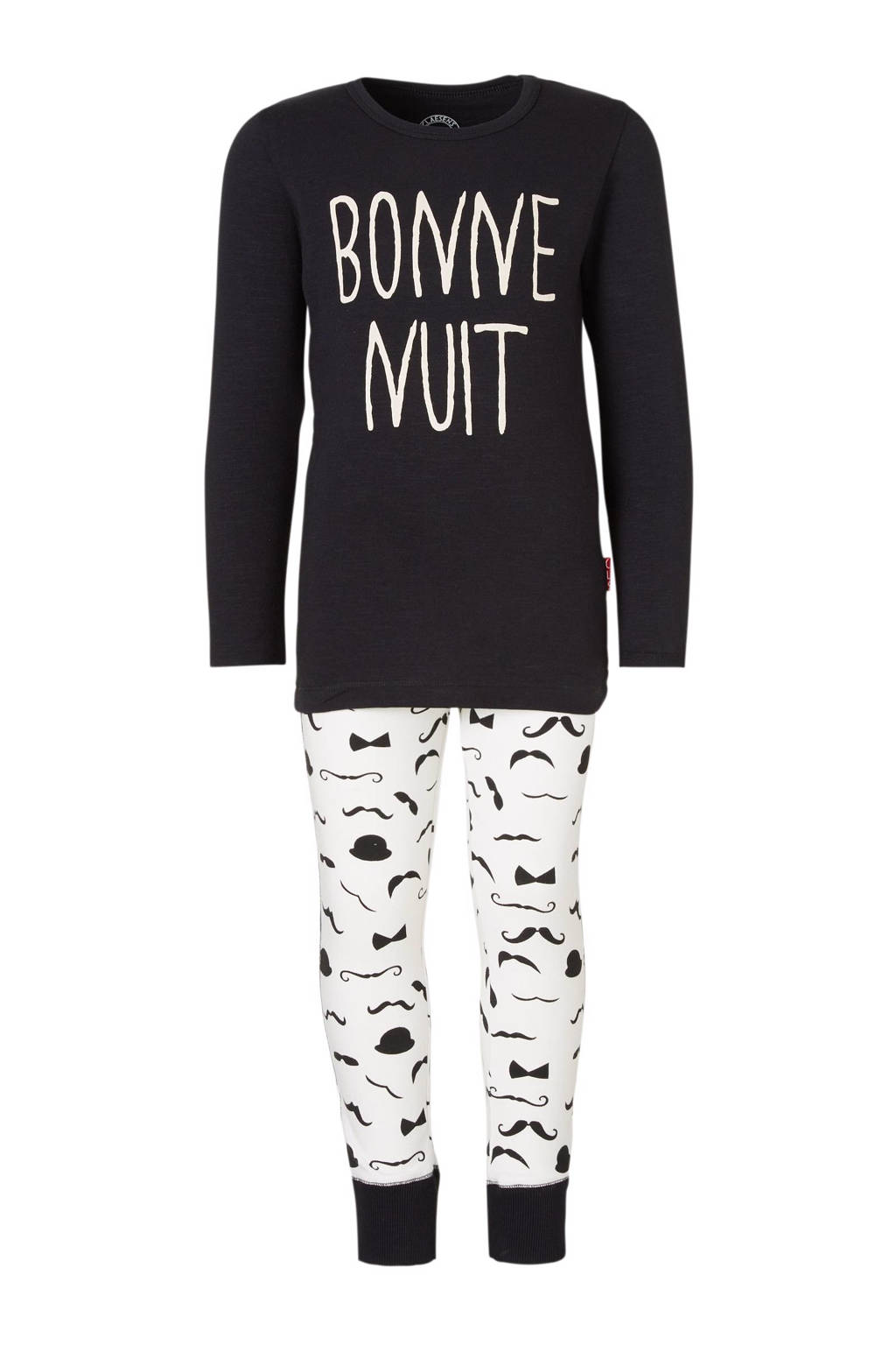 Claesen's pyjama zwart/ecru, Zwart/gebroken wit
