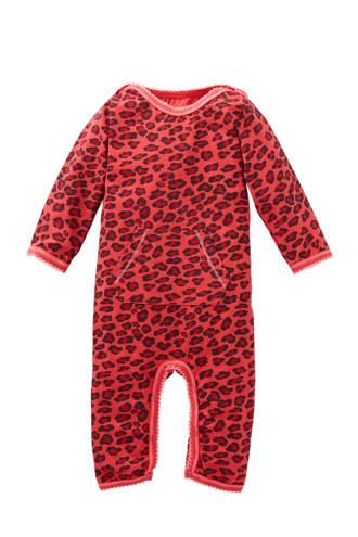 baby boxpak met panterprint rood