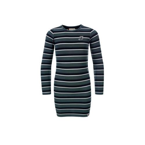5983608ba66c0f LOOXS gestreepte jurk grijs - Sconti