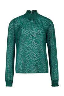 WE Fashion transparante top groen  (dames)
