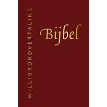 Bijbel (Willibrordvertaling) in leer met goudsnee, rits en koker (rood)