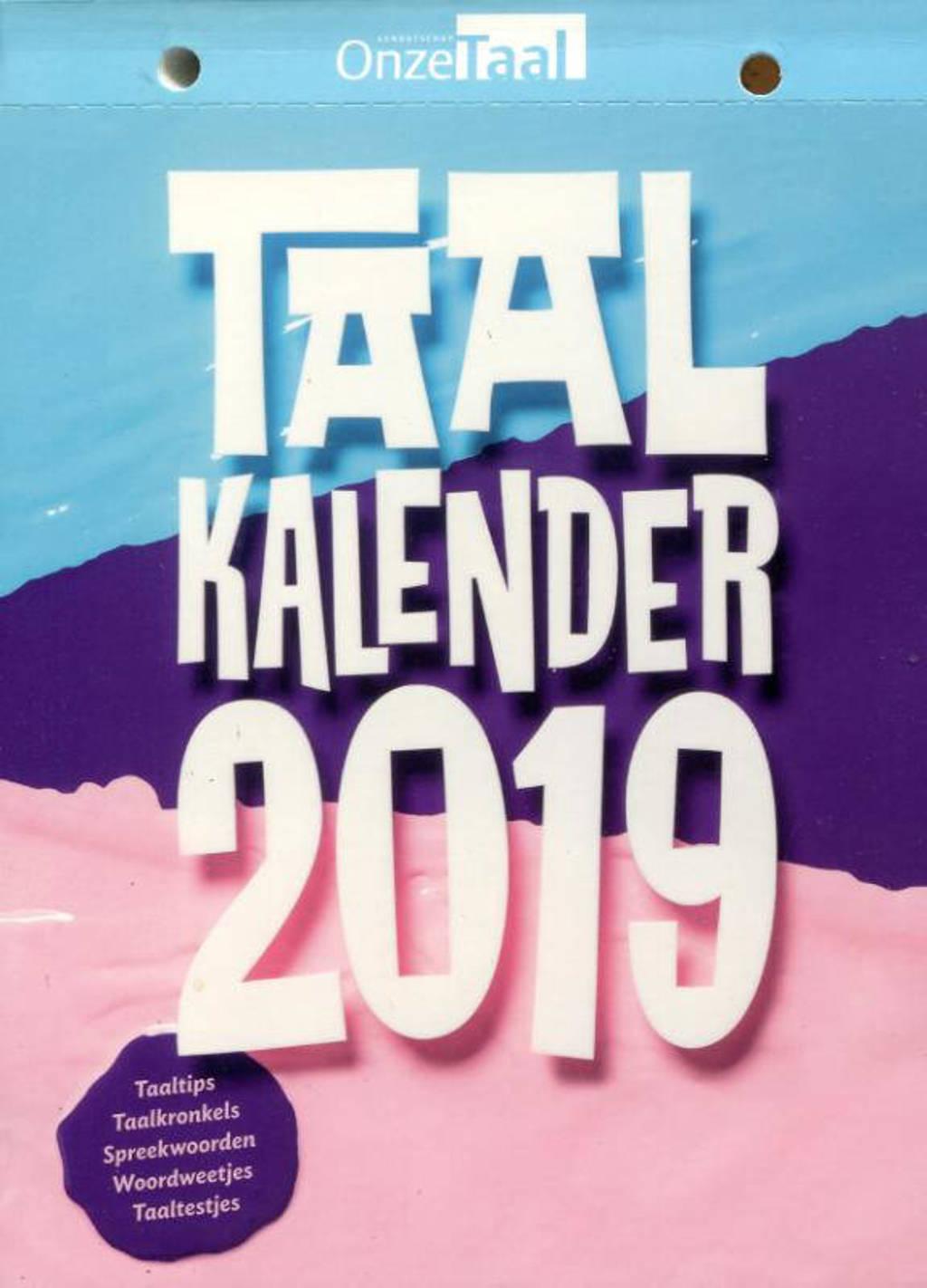 Taalkalender 2019 - Genootschap Onze Taal