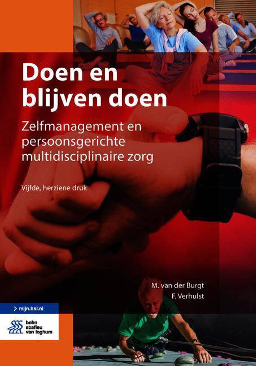 Doen en blijven doen - M. van der Burgt en F. Verhulst