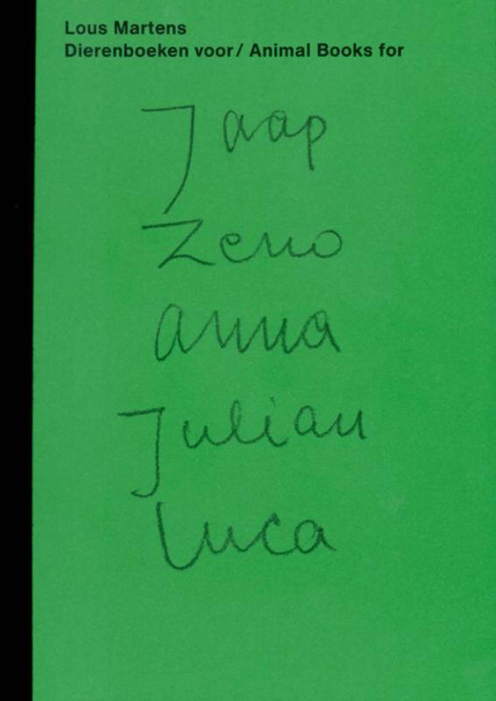 Dierenboeken voor / Animal books for Jaap Zeno Anna Julian Luca - Lous Martens