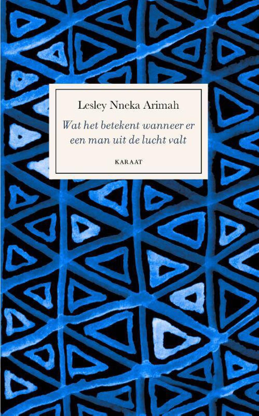 Wat het betekent wanneer er een man uit de lucht valt - Lesley Nneka Arimah
