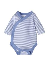 C&A Baby Club newborn baby romper, Lichtblauw/wit