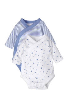 Baby Club newborn overslagromper (set van 2)