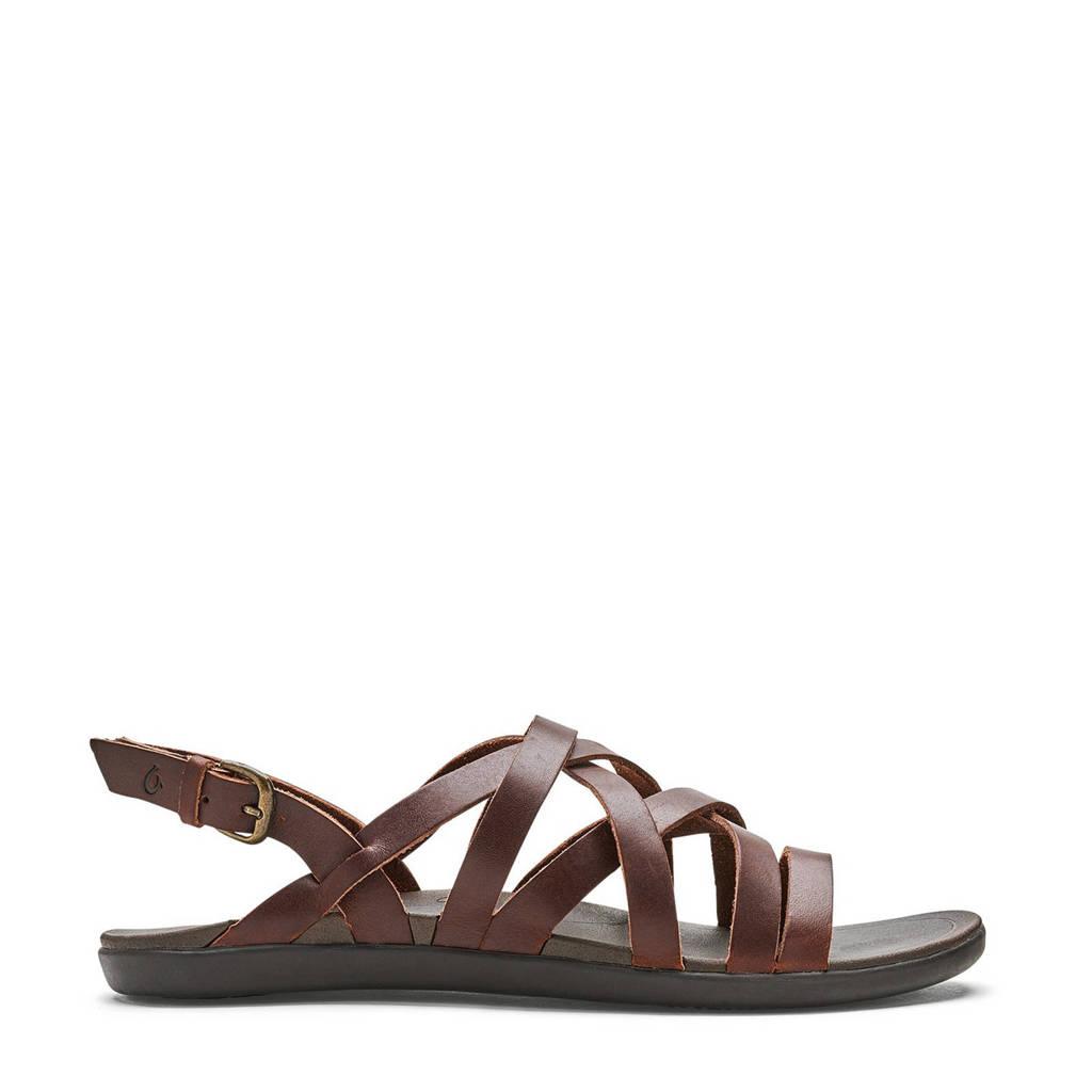 Olukai   Awe Awe leren outdoor sandalen, Bruin