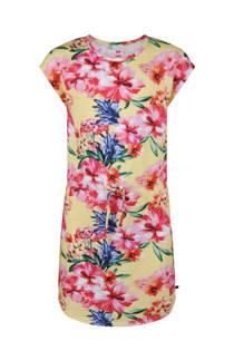 WE Fashion jurk blauw/roze (meisjes)