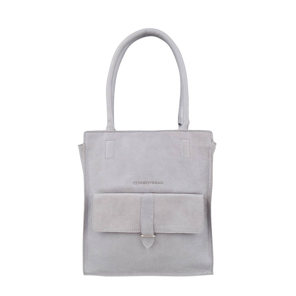 Cowboysbag   leren shopper Bag Stanton, 140 - Grey