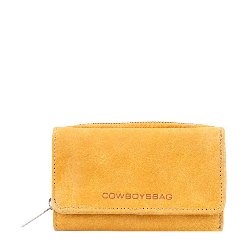 Cowboysbag leren portemonnee Purse Warkley geel, 465 - Amber