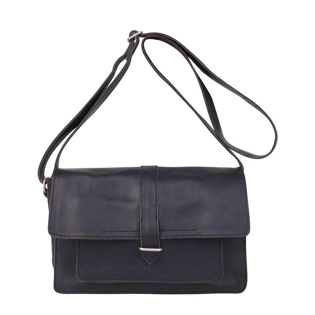 Cowboysbag   leren crossbody tas Bag Cheswold, 100 - Black