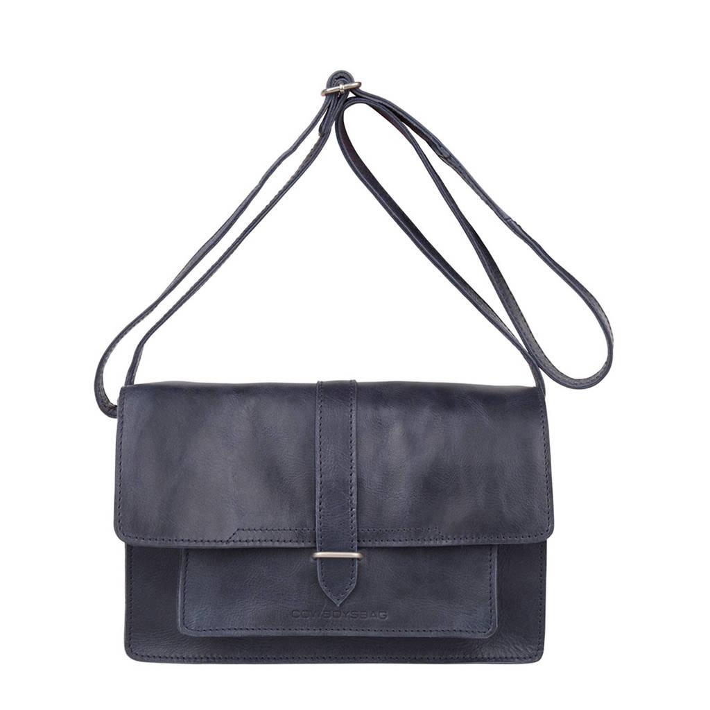 Cowboysbag  leren crossbody tas Bag Cheswold, 820 - Dark Blue