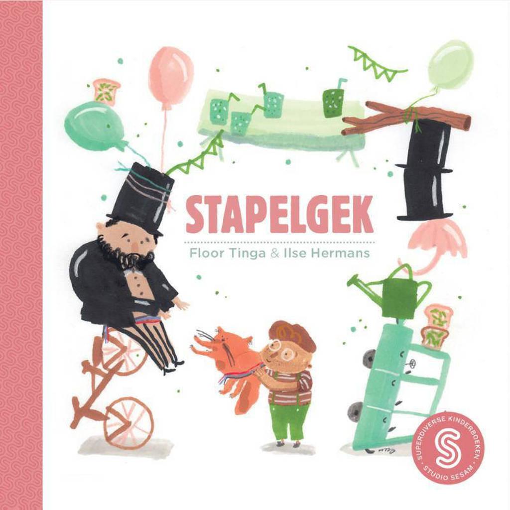 Sesam-kinderboeken: Stapelgek; Help, ik heb de babyblues - Floor Tinga en Tewa Muller