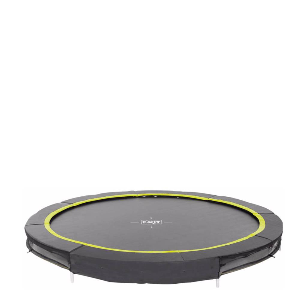 EXIT Silhouette Ground trampoline Ø244 cm, Zwart