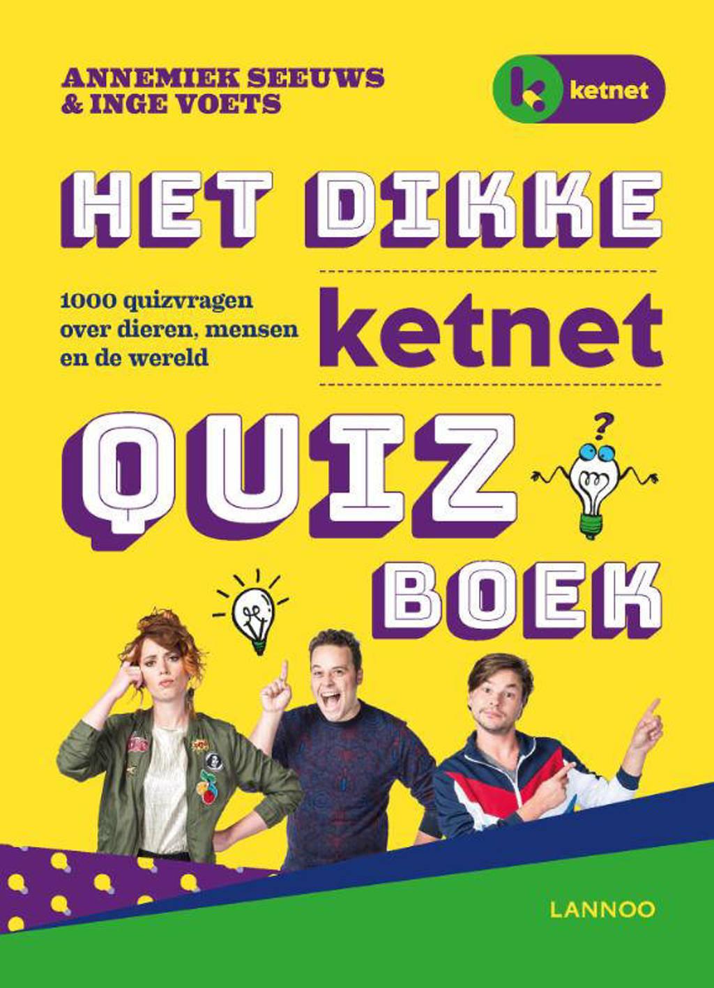 Het dikke Ketnet quizboek - Annemiek Seeuws en Inge Voets