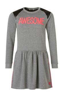 jurk Awesome met tekst grijs