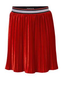 fluwelen plissé rok rood