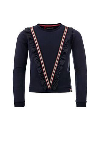 Little sweater met volant donkerblauw