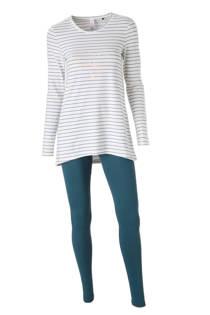 SKINY pyjama all over streep print (dames)