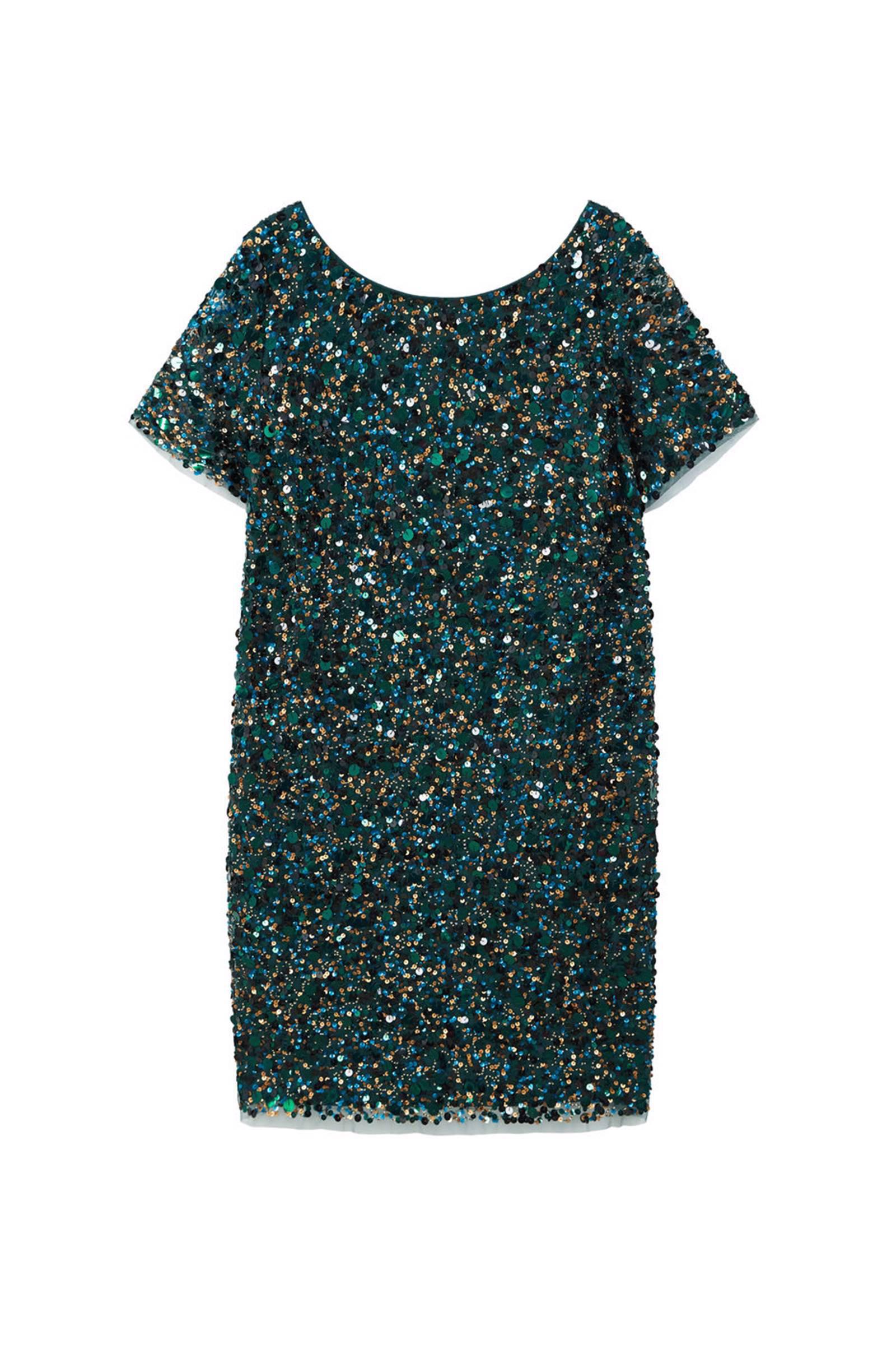 pailletten jurk groen