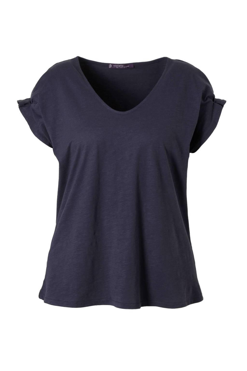 Violeta by Mango T-shirt donkerblauw, Donkerblauw